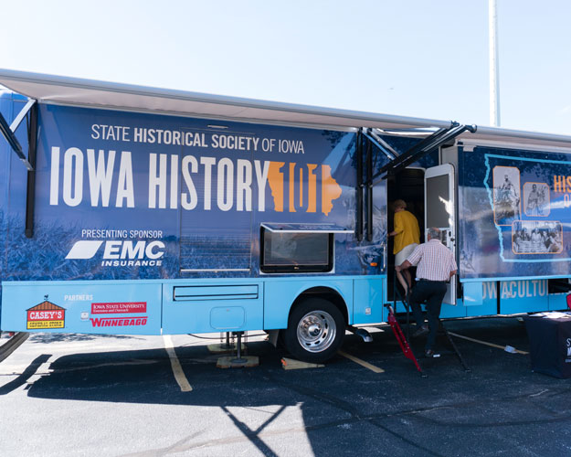 EMC helped to fund the State Historical Society of Iowa's mobile museum