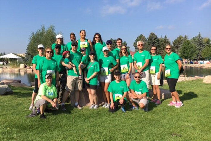 Photo of Denver branch Employees at a charity 5k