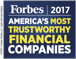 Forbes named EMC to their 2016 list of America's most trustworthy financial companies