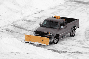 pickup with plow