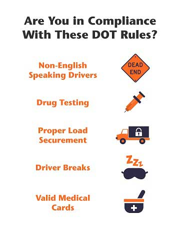 Top 5 DOT compliance issues