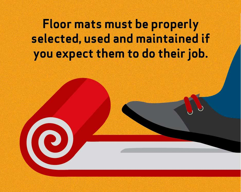 Floor mats must be properly selected, used and maintained