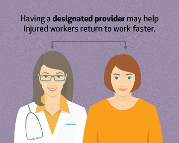 designated providers help workers return faster