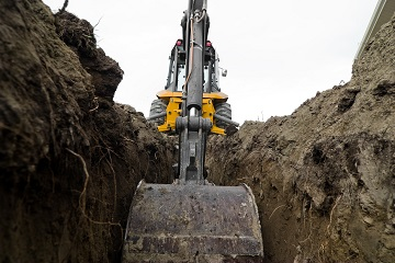 backhoe trenching