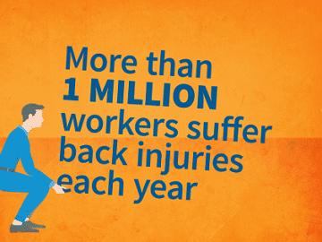 1,000,000 workers suffer back injuries