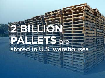 2 billion pallets are stored in U.S. warehouses