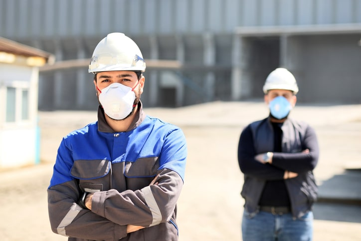 workers in safety masks