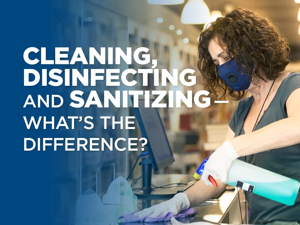 Cleaning, disinfecting, and sanitizing