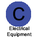 Letter C in blue circle labeled Electrical Equipment