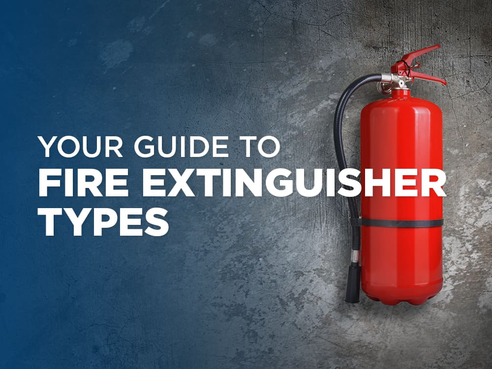 Your guide to fire extinguisher types
