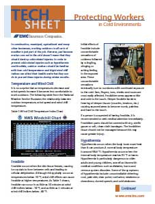 protecting works in cold environments tech sheet