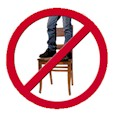 Avoid standing on chairs