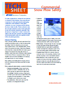 Commercial Snow Plow safety tech sheet
