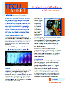 Protecting Workers in cold environments tech sheet