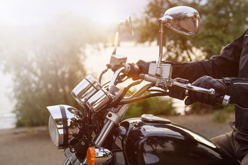 Photo of a person on a motorcycle